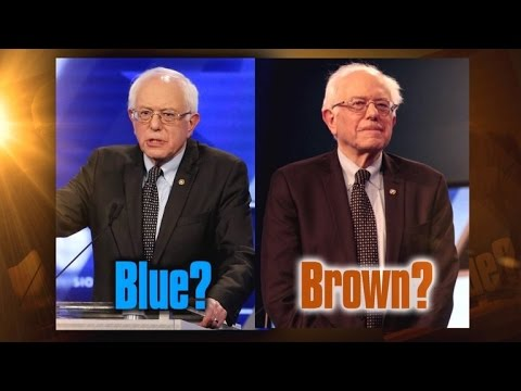 The Great Debate: Is Bernie Sanders Suit Brown or Blue? - YouTube