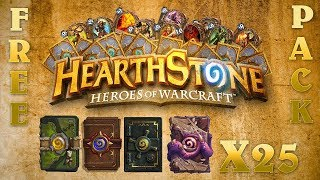 HOW TO GET FREE HEARTHSTONE PACKS 2018(WORKING)