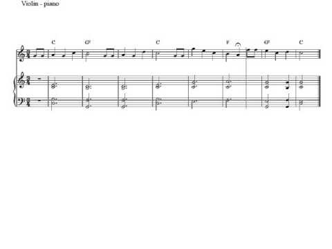 Free violin and piano sheet music | Happy Birthday To You