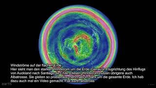 Flugfragen 3   Flugverbindungen beweisen die flache Erde Karte