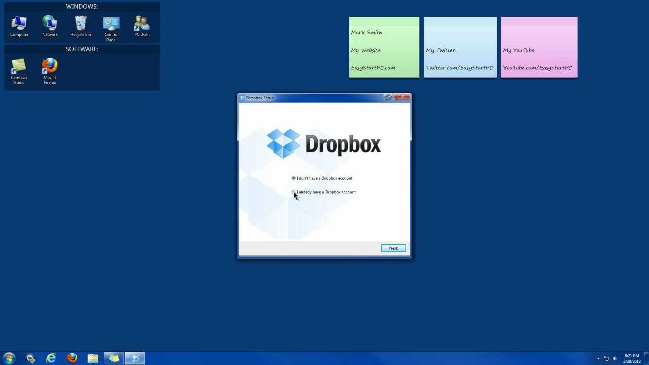 How To Install Dropbox onto your Computer - YouTube