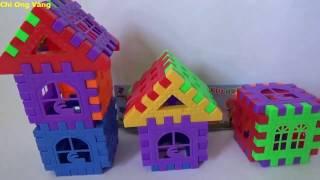 Đồ Chơi Trẻ Em Xếp Hình Ngôi Nhà - Chị Ong Vàng chơi Đồ Chơi Xếp Hình