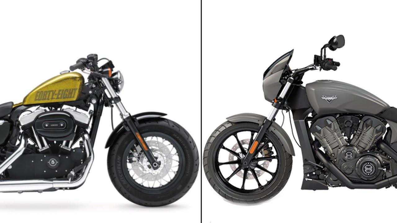 Victory Octane VS Harley Davidson 48 - Test Ride ...