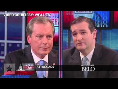 Ted Cruz and David Dewhurst Debate Highlights