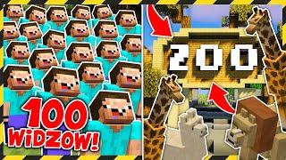 100 WIDZÓW vs BUDOWANIE ZOO! *wyszło epicko!*