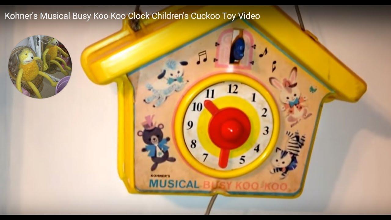 kohner 39 s musical busy koo koo clock children 39 s cuckoo toy video youtube. Black Bedroom Furniture Sets. Home Design Ideas