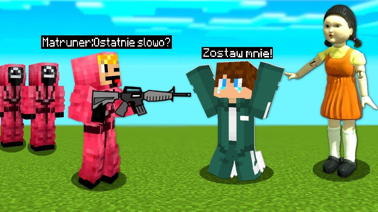 Download MATRUNER z LALKĄ SQUID GAME ZROBILI MI TO... w Minecraft!