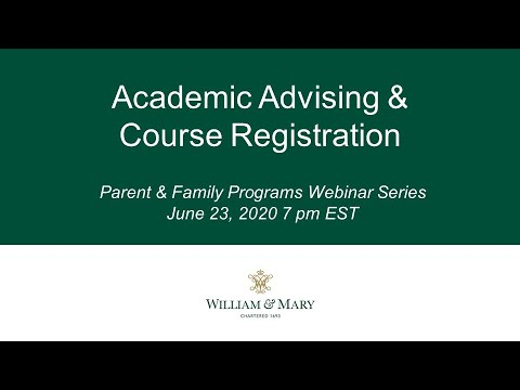 Academic Advising & Course Registration