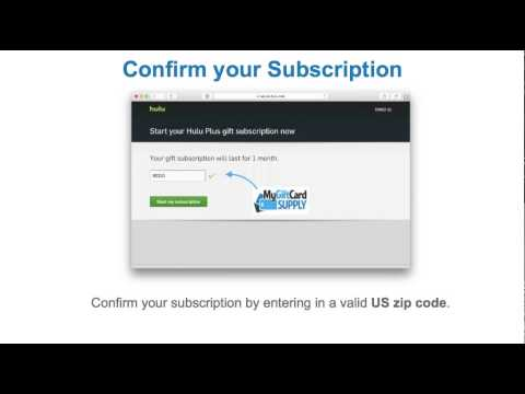 How To Redeem Your Hulu Plus Gift Card - MyGiftCardSupply