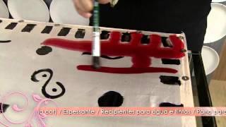 Aprenda a pintura em seda com estampa geométrica!
