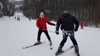 Горнолыжный центр «Лоза» Сергиев Посад, учебная трасса, впервые встал на лыжи