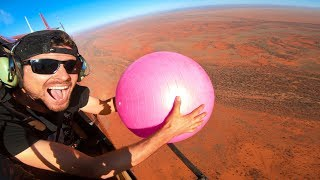 Exercise Ball Magnus Effect from 2000ft!