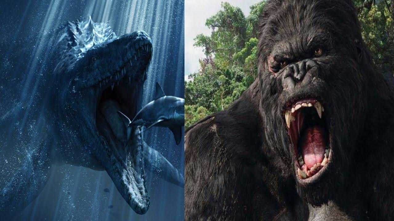 Mosasaur vs King Kong (HD) - YouTube