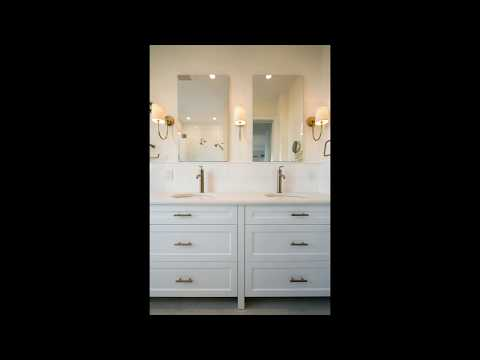 Gorgeous Master Bathroom with Custom Double Vanity - 5 Riverside Drive, NYC