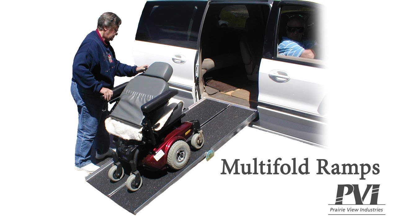pvi portable scooter wheelchair ramps youtube