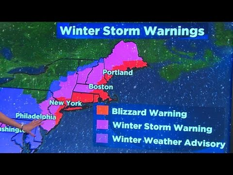 Weather forecast: Blizzard threatens Northeast   YouTube