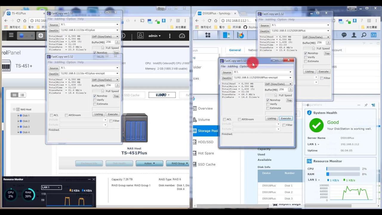 QNAP TS-451+ vs Synology DS918+ (SMB)