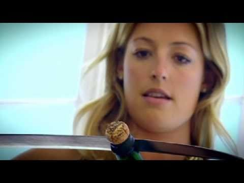 Drinking champagne with Cat Deeley - Gordon Ramsay