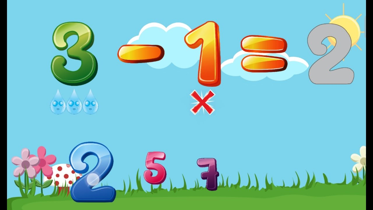 Subtracting Numbers For Kids To Learn (Subtraction Minus) Maths For ...