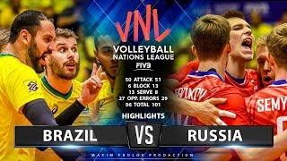 Brazil vs Russia | Highlights Men's VNL 2019
