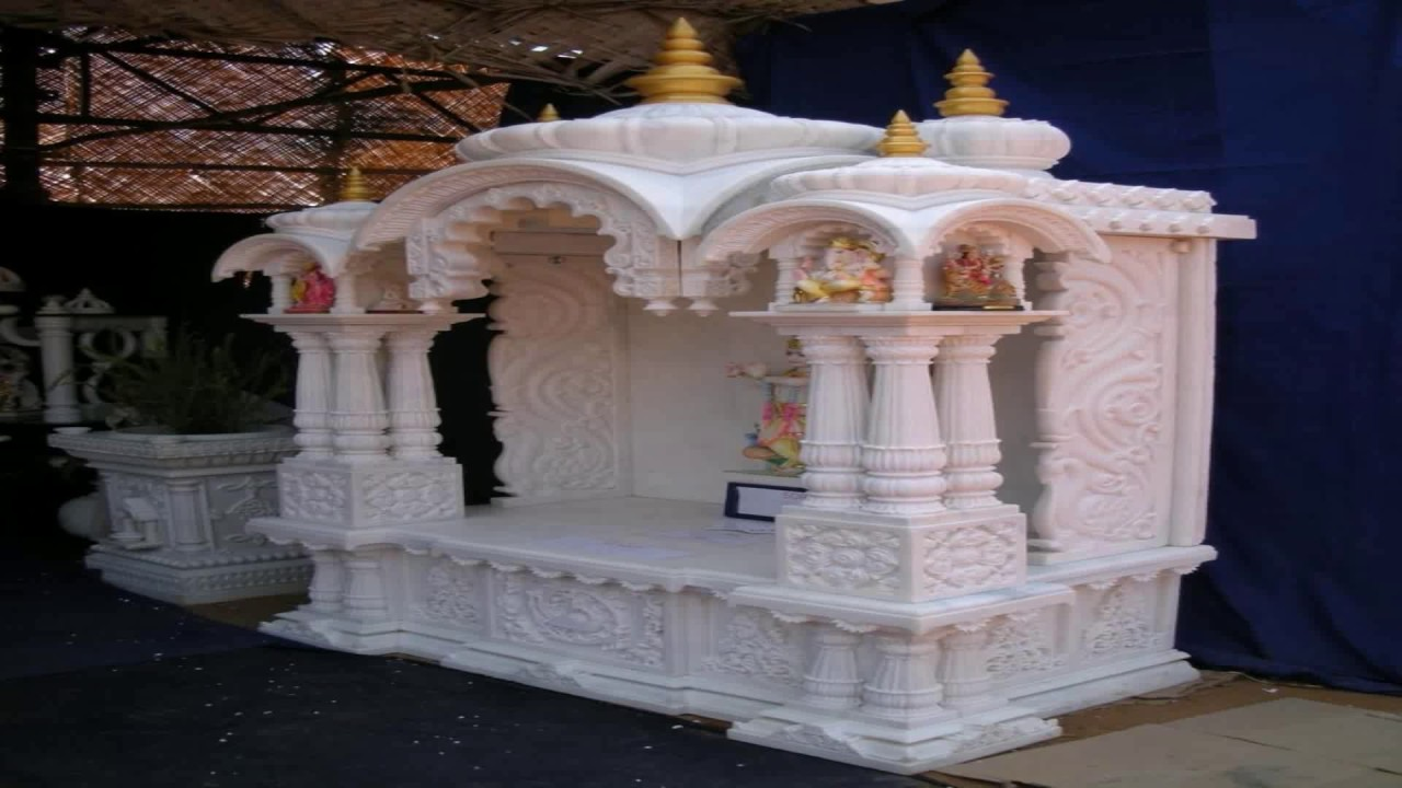 Marble pooja room designs for home flisol home for Marble temple designs for home