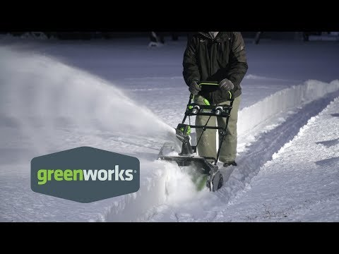 Greenworks Tools 80-Volt, 20in, Snow Thrower