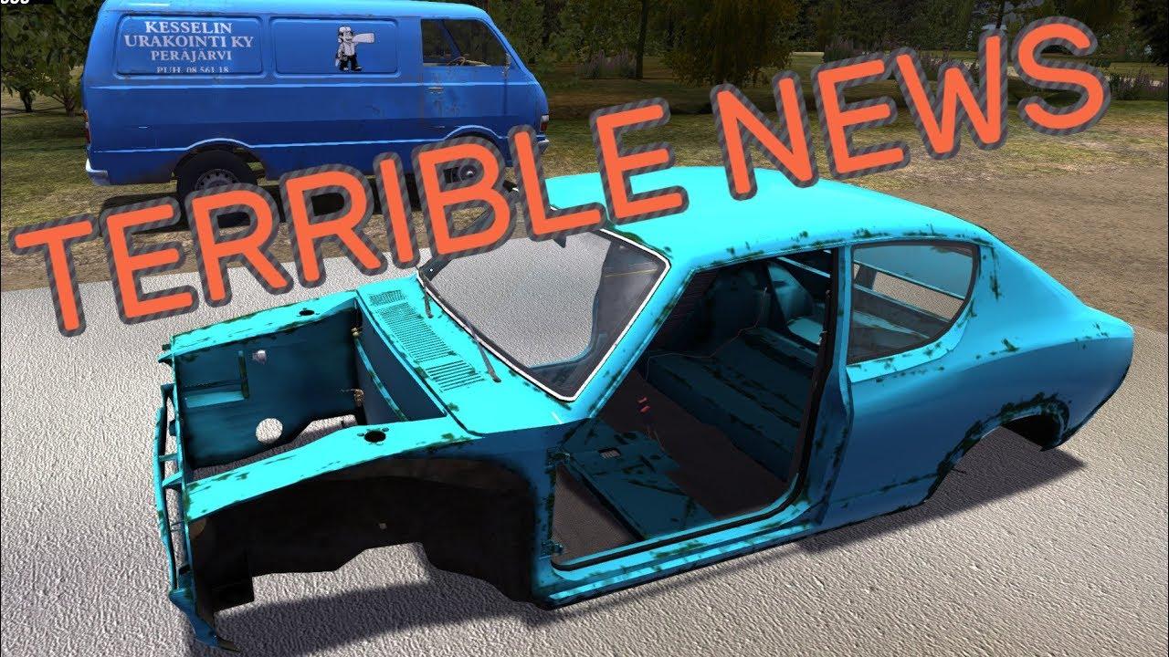 Terrible News My Summer Car Youtube