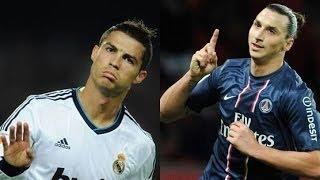 Cristiano Ronaldo vs Zlatan Ibrahimovic|Top 10 Free Kicks