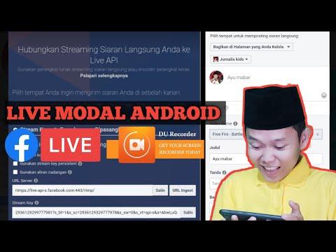 Cara ambil kunci live streaming facebook gaming modal android