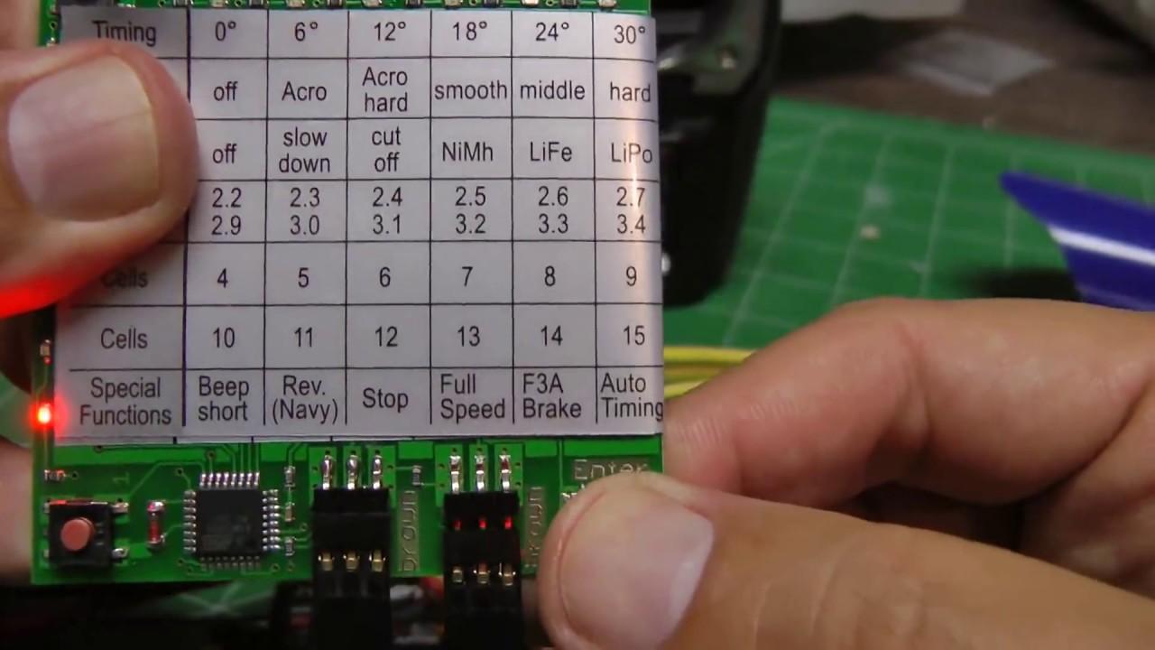 yep esc programming card
