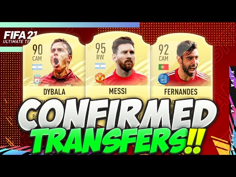 FIFA 21   NEW CONFIRMED TRANSFERS & RUMOURS JANUARY 2021😱🔥  w/ DYBALA, BRUNO & MESSI MANCHESTER UTD