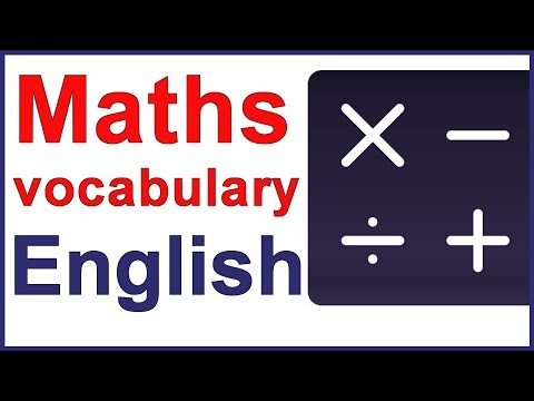 Maths signs and operations - English vocabulary lesson