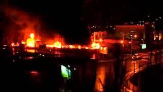 видео о пожаре в Саратове