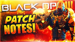 BLACK OPS 3 PATCH NOTES! - HUGE WEAPON BUFFS, PUBLIC COMBAT RECORD UPDATE & MORE! (BO3 Patch 2/1/16)