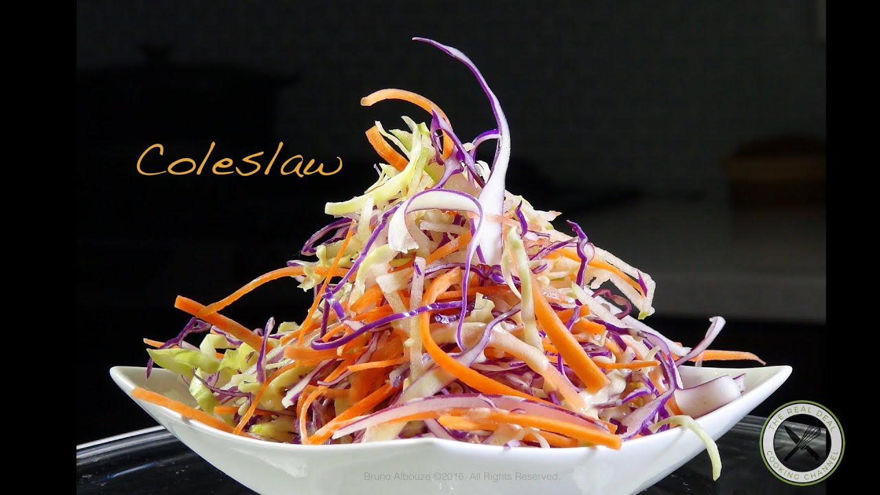 Coleslaw recipe bruno albouze the real deal youtube forumfinder Choice Image