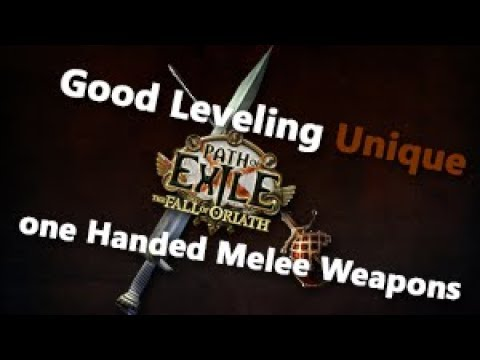 Path of Exile Good Leveling Uniques one Handed Melee Weapons