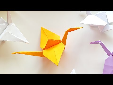 DIY Paper Crane - How To Make Origami Bird Step by Step \ Easy Craft Tutorial