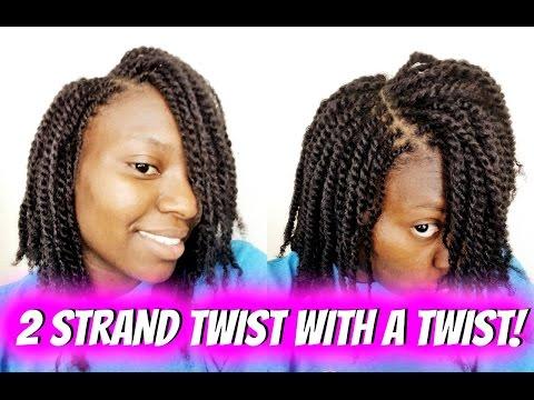 EASY| 2 Strand Twist + FLAT TWIST