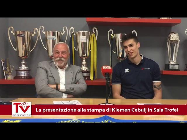 La presentazione alla stampa di Klemen Cebulj