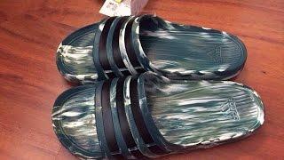 Обзор посилки  SportsDirect мужские шлепанцы Adidas Размерная Сетка