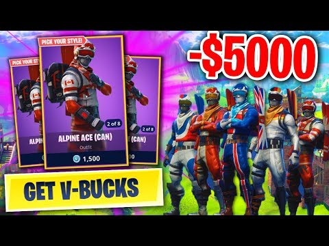 WASTING MORE MONEY ON FORTNITE BATTLE ROYALE... (NEW SKINS UPDATE!)