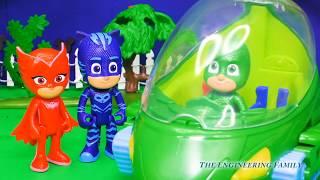 PJ MASKS Gekko Transforming Tower Surprises + Pup to Hero Changers + Pokemon + Trolls Toys Video