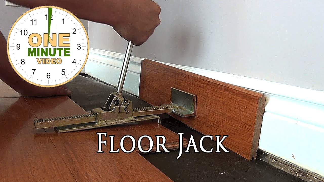 Hardwood Floor Jack Gets Boards Tight