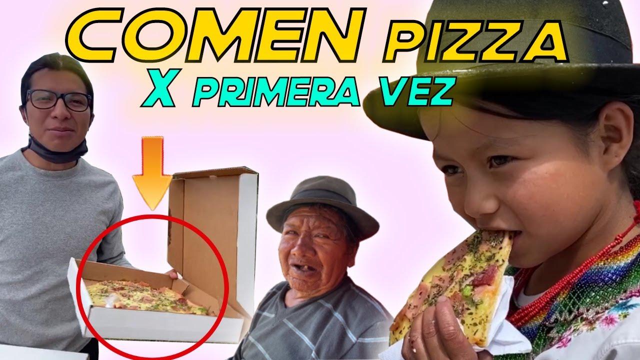 Nunca en su vida han probado PIZZA (REACCIONAN) | Ahora Pit