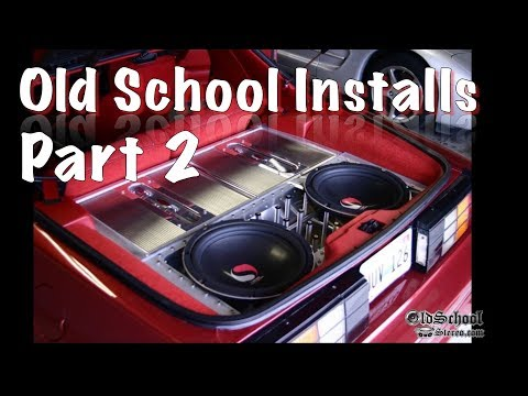 Old School Car Audio Installs Compilation - Volume 2