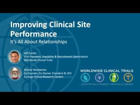 Improving Clinical Site Performance: It's All About Relationships Webinar