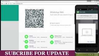 WhatsApp Web | How To Install & Scan WhatsApp Web QR Code On Pc | Laptop [2015]