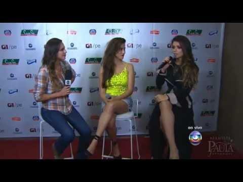 Paula Fernandes conversa com o G1, ao vivo, após show no Festeja Recife