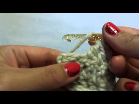 Как провязать крючком 2 столбика с накидом вместе