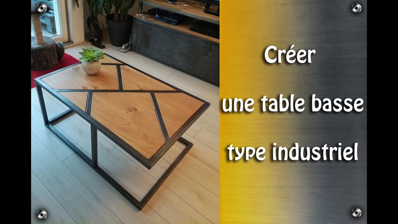 Table Basse A Fabriquer fabrication table basse type industriel